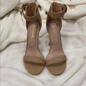 Shoedazzle clear heels